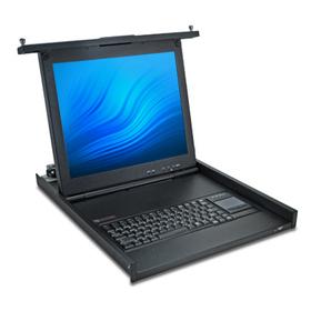 Avocent LCD Rack-Console 1U 43,2cm (17'') und KVM Schnittstellen: 3xUSB VGA